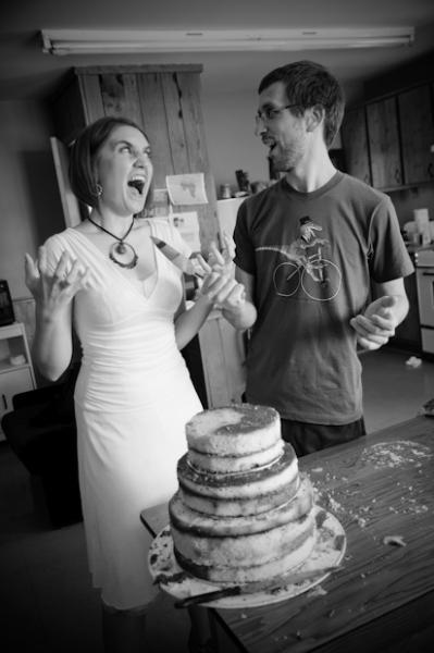 un gâteau improvisé