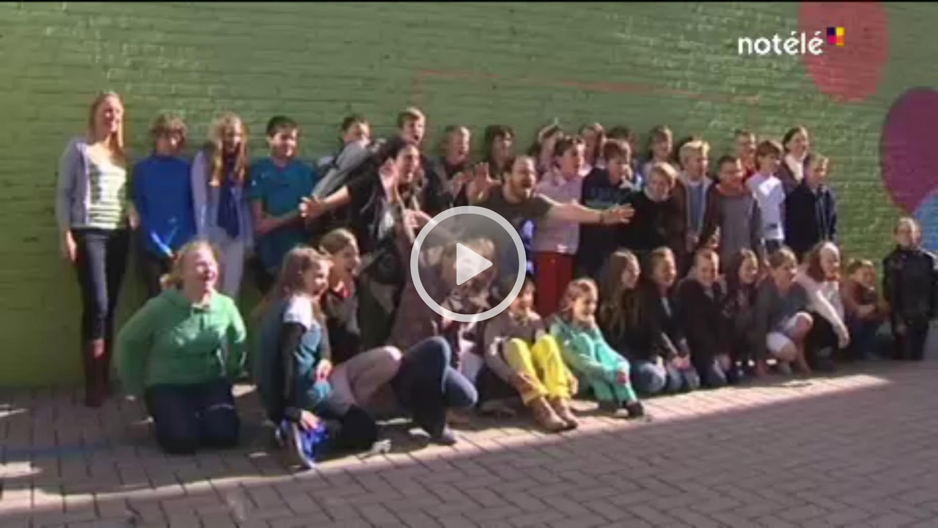 reportage de No télé à l'école communale d'Escanaffles
