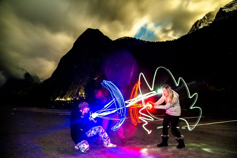 Milford sound lightpainting / © Du Monde au Tournant