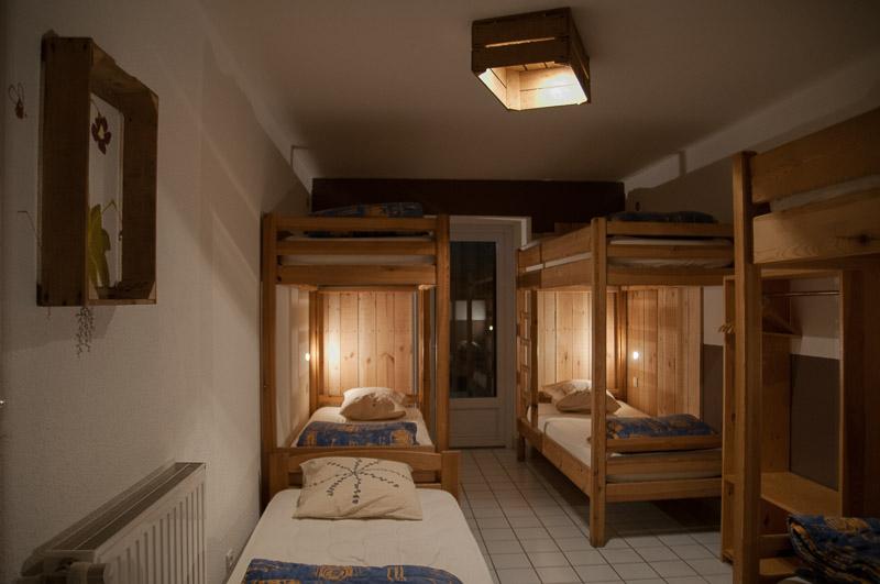 Chambre dortoir du gîte de Servières © Michel Dvorak / Du Monde au Tournant