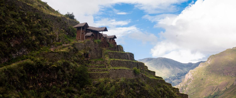 les huttes des ruines de Pisaq