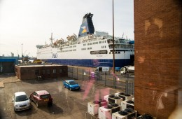 à pied au port de Zeebrugge