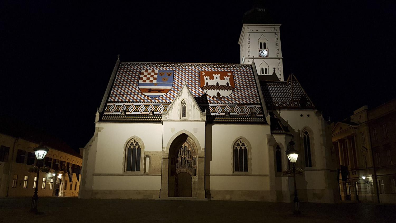 Eglise saint-marc à Zagreb