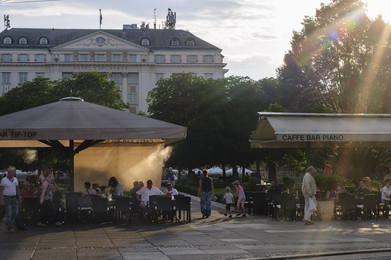 une terrasse de Zagreb