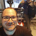 Avec Aala, dans le train entre Montpellier et Frontignan