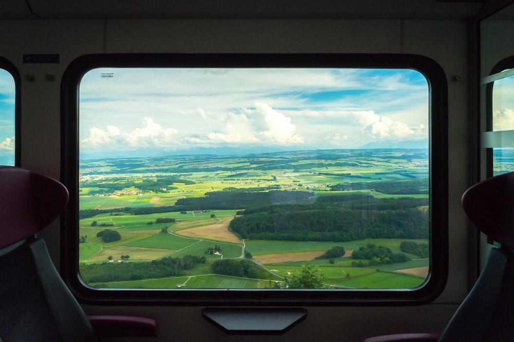 Trains CFF d'Yverdon à Sainte-Croix
